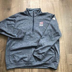 Adidas USA Quarter Zip sweater sz XXL